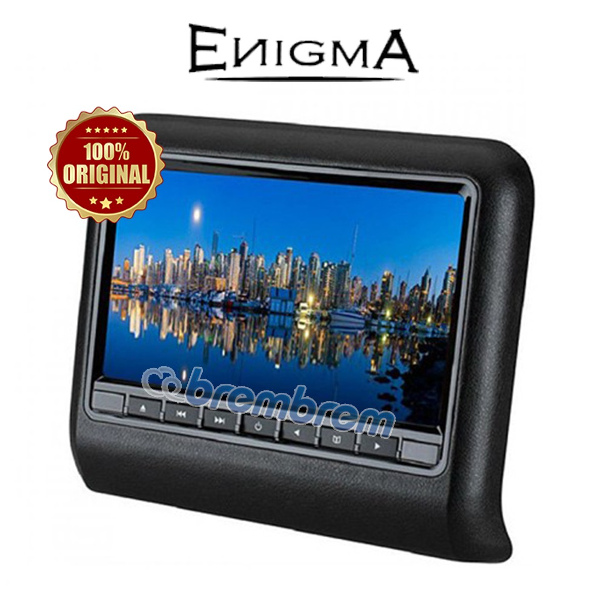 ENIGMA EG 9917 - HEADREST CLIPON BLACK