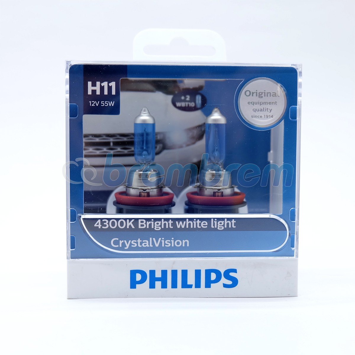 PHILIPS CRYSTAL VISION H11 (4300K) - LAMPU HALOGEN