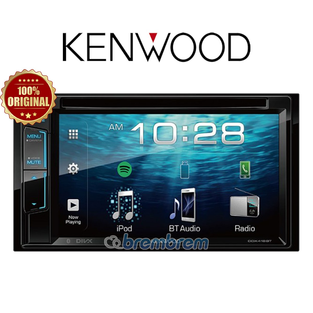KENWOOD DDX418BT - HEADUNIT DOUBLE DIN