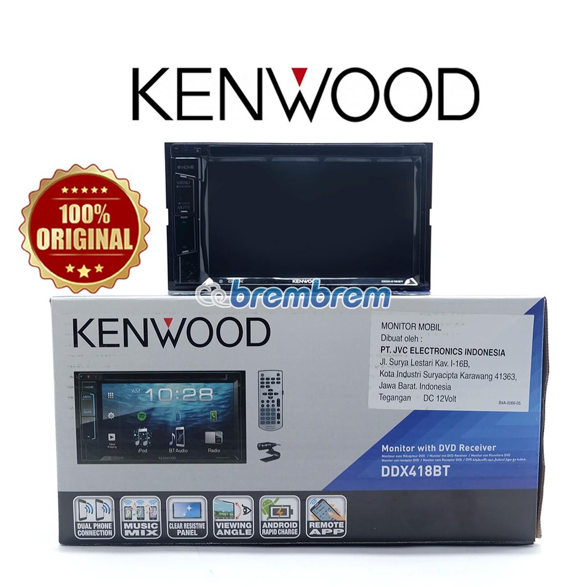 KENWOOD DDX418BT - HEADUNIT DOUBLE DIN