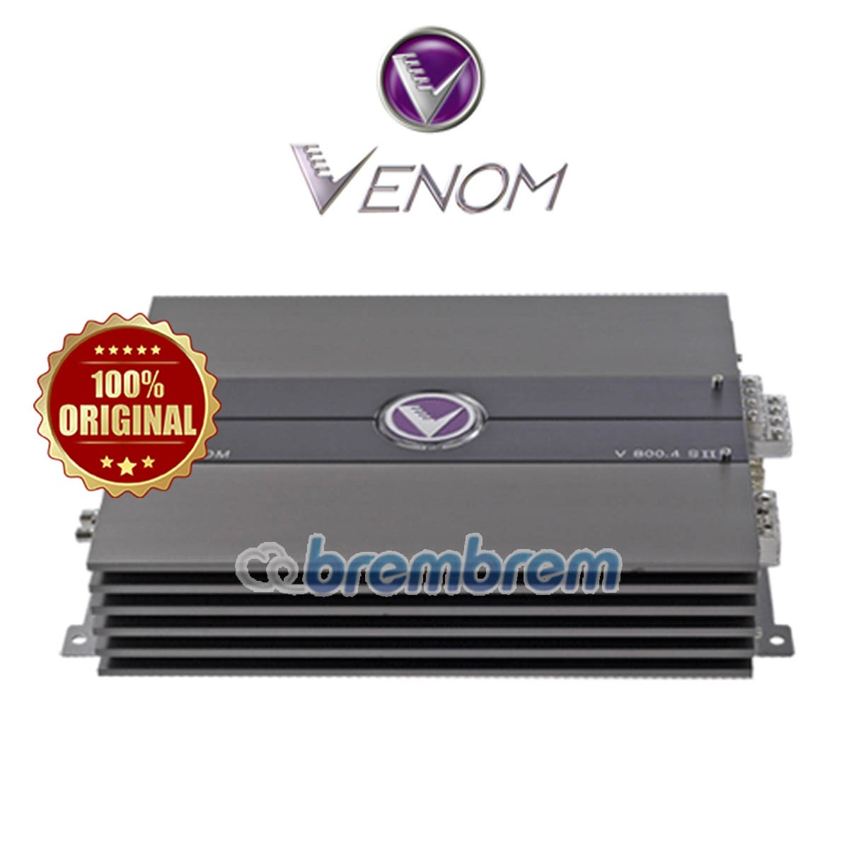 VENOM SILVER SERIES V800.4SII - POWER 4 CHANNEL