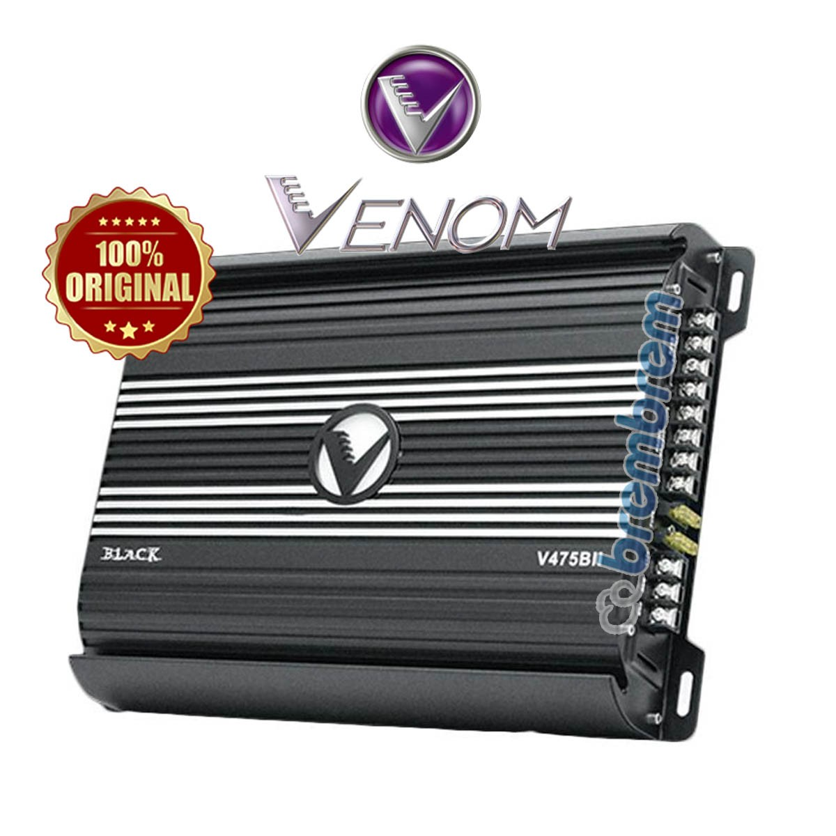 VENOM BLACK SERIES V475BII - POWER 4 CHANNEL
