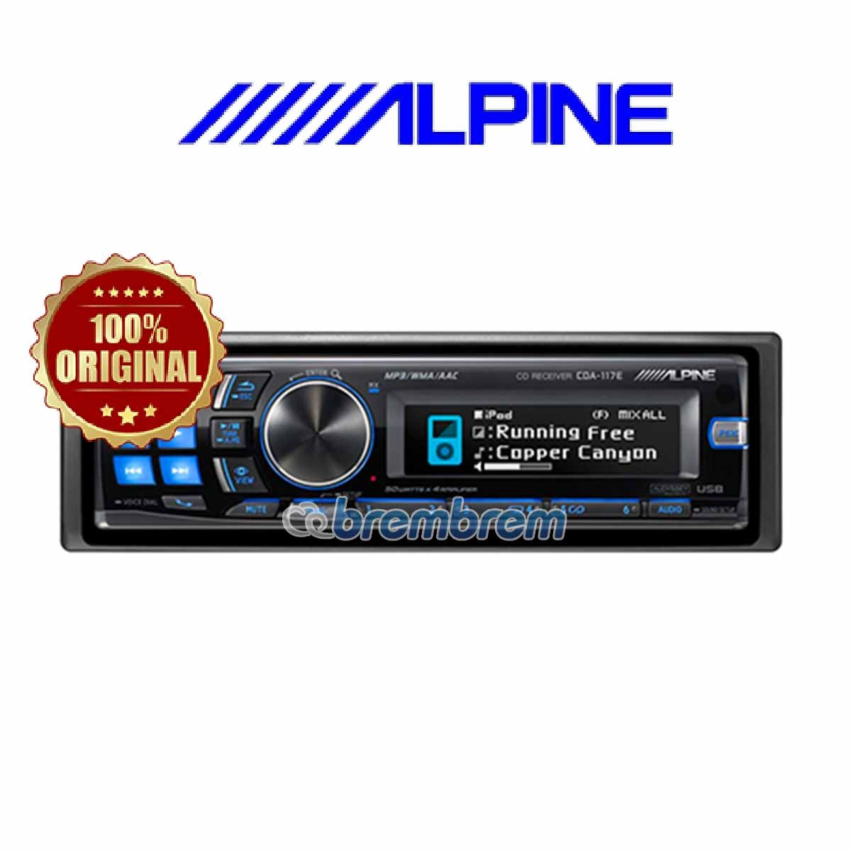 ALPINE CDA-117E - HEADUNIT SINGLE DIN
