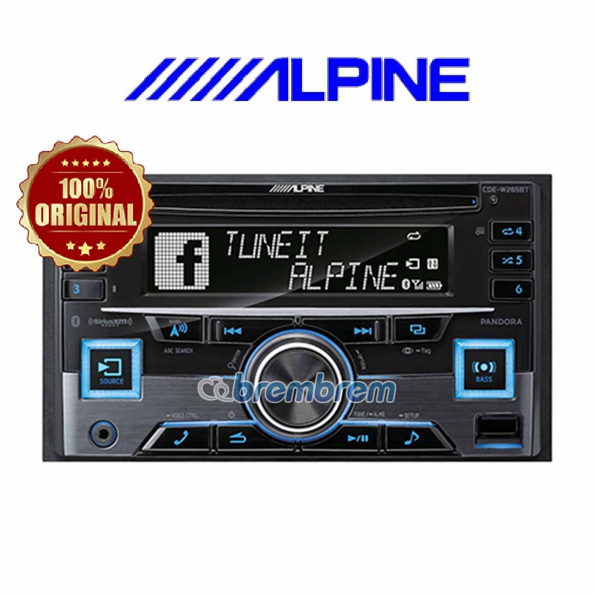 ALPINE CDE-W265EBT - HEADUNIT DOUBLE DIN