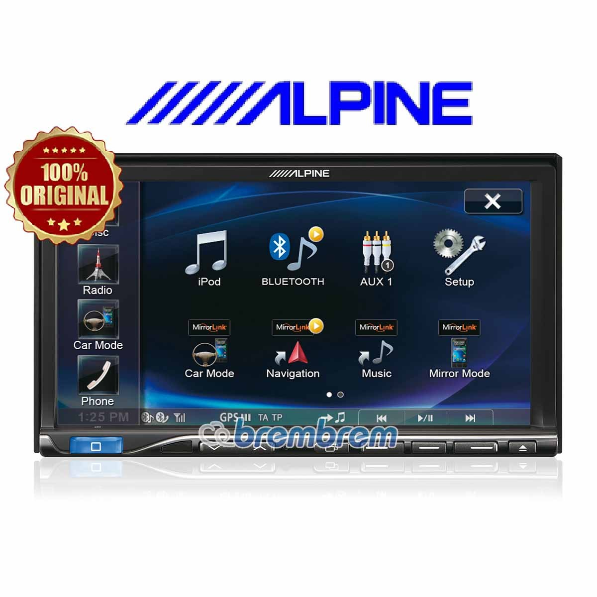 ALPINE ICS X8 - HEADUNIT DOUBLE DIN