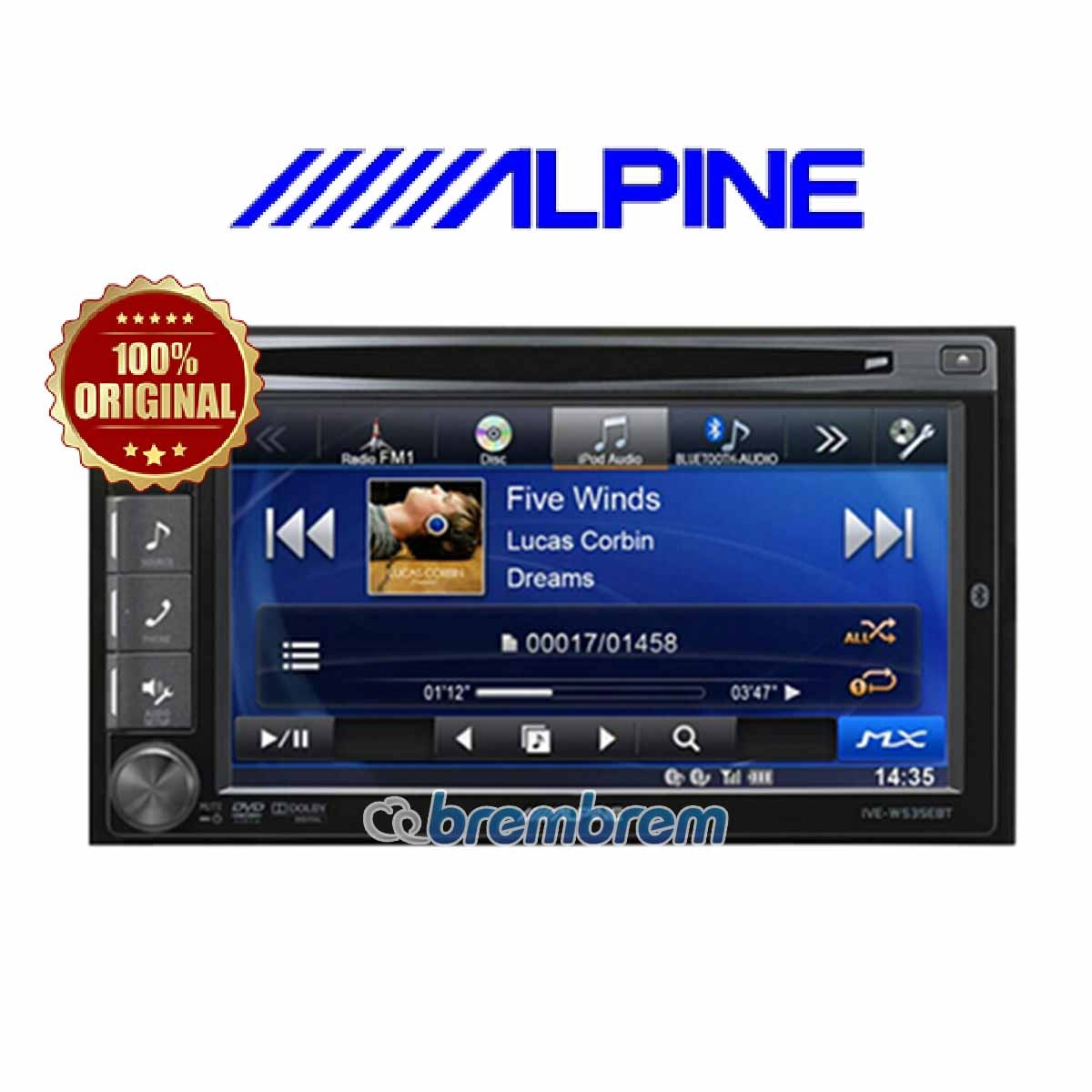 ALPINE IVE-W535 EBT - HEADUNIT DOUBLE DIN