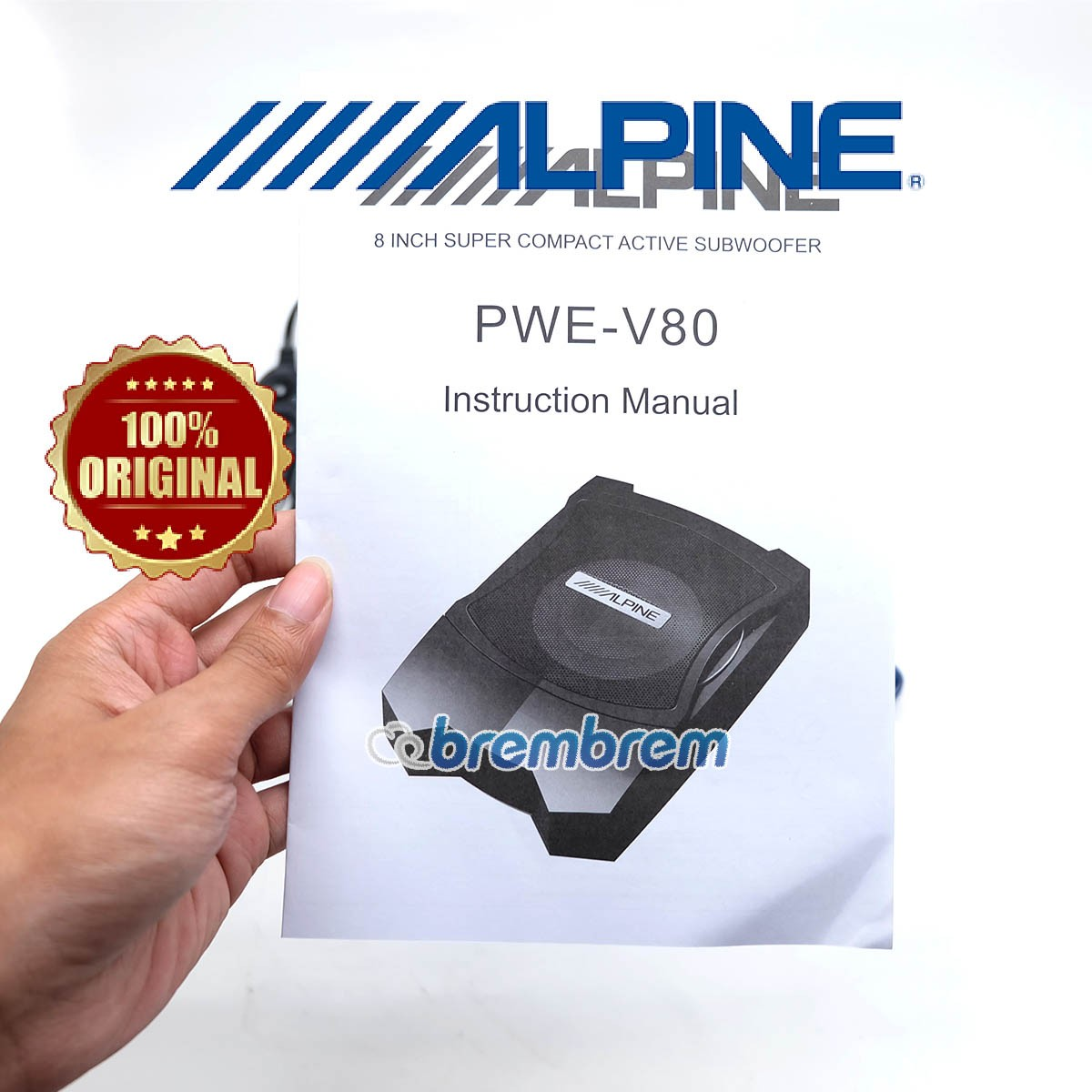 ALPINE PWE V80 - SUBWOOFER AKTIF