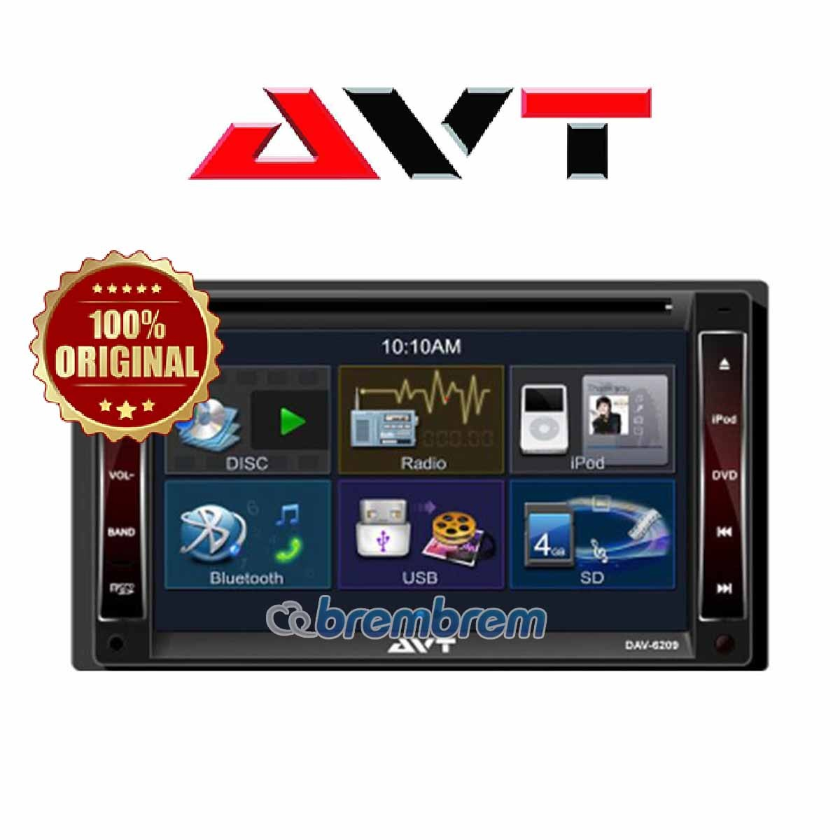 AVT DAV 6209 - HEADUNIT DOUBLE DIN