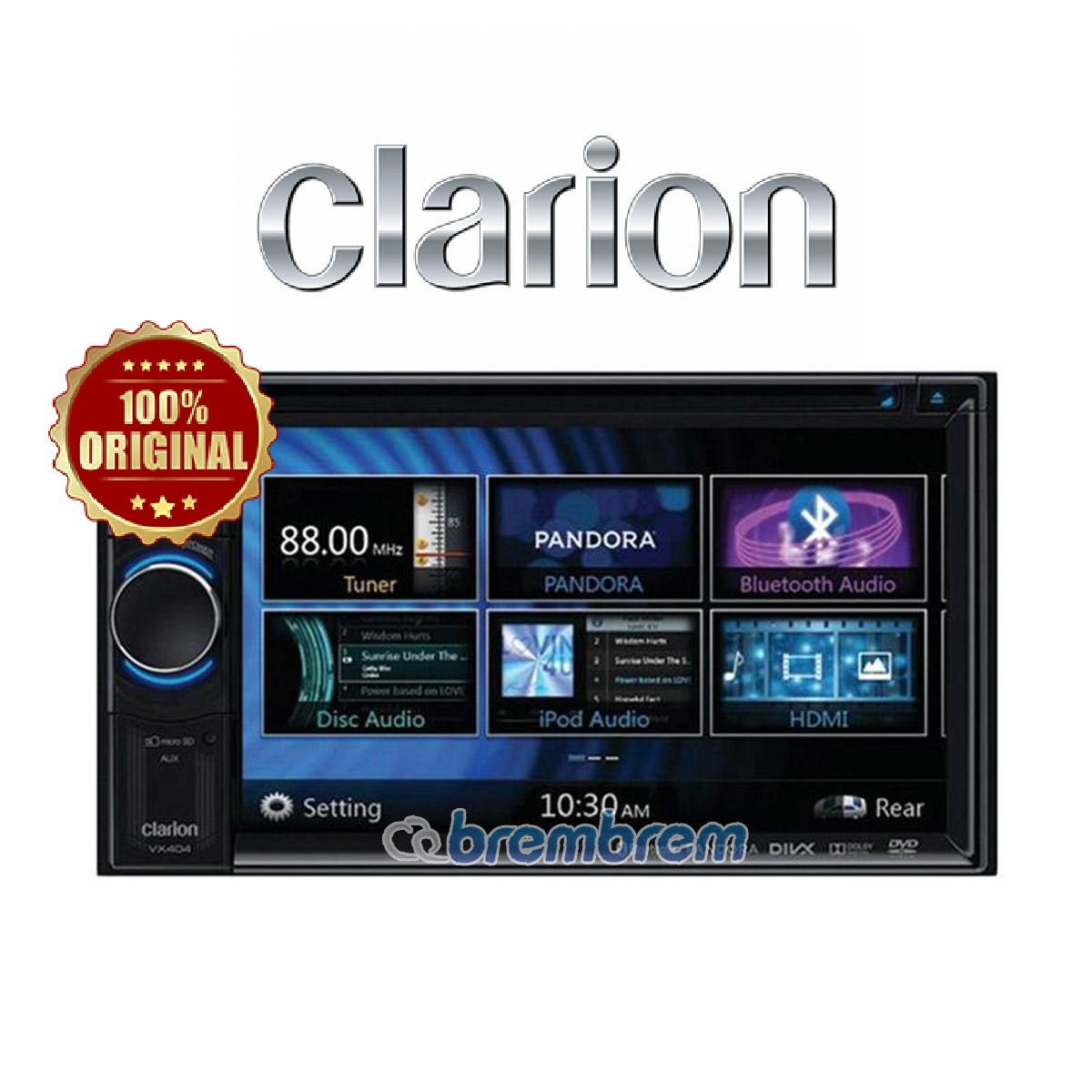 CLARION NX 404 A (GPS NAVIGASI) - HEAD UNIT DOUBLE DIN