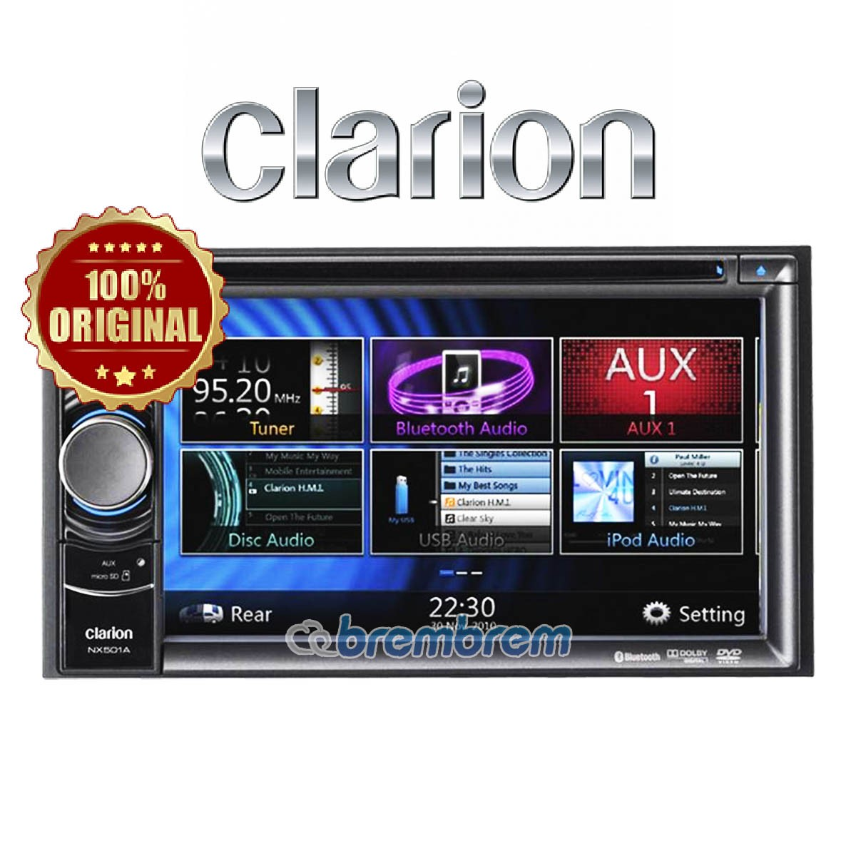CLARION NX 501 A (GPS NAVIGASI) - HEAD UNIT DOUBLE DIN