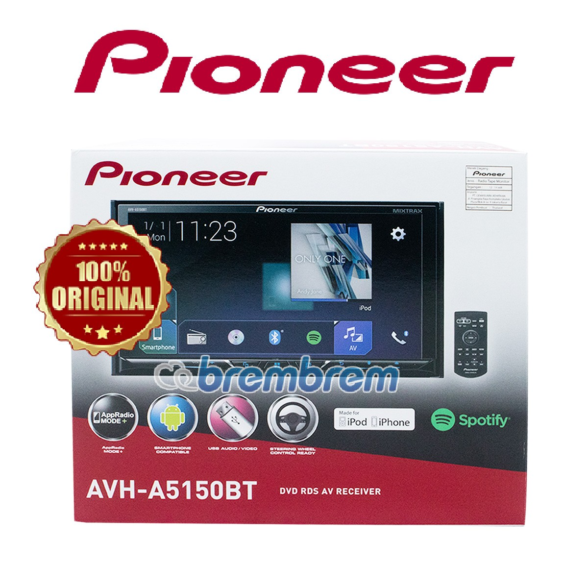PIONEER AVH-A5150BT - HEADUNIT DOUBLE DIN