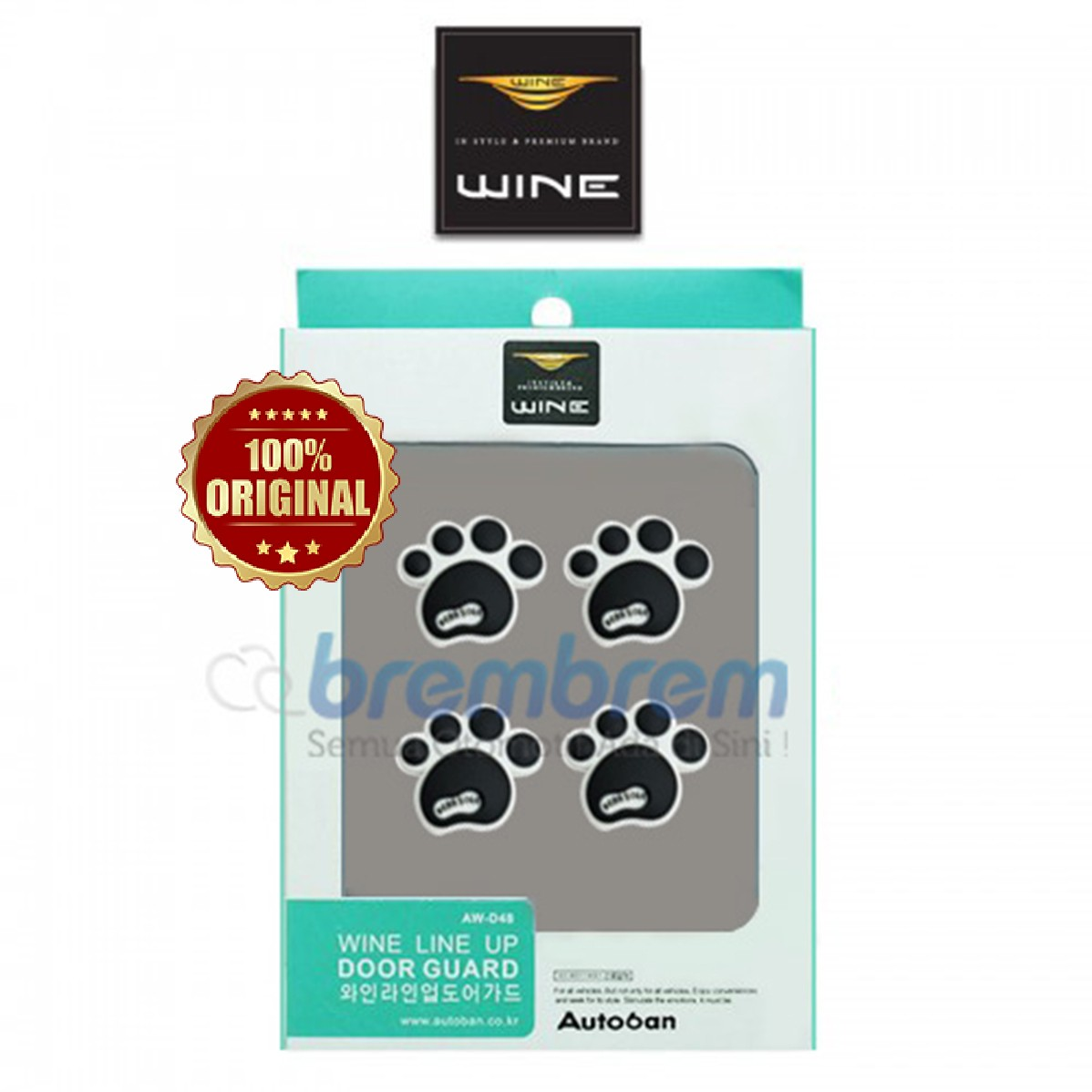 DOOR GUARD WINE LINE UP HITAM