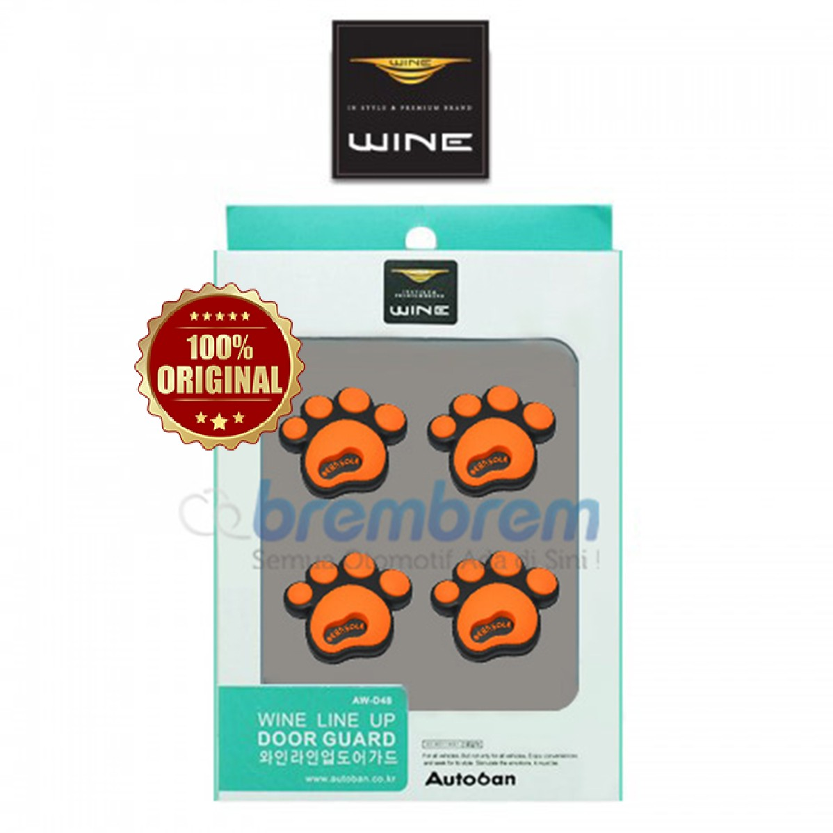 DOOR GUARD WINE LINE UP ORANGE