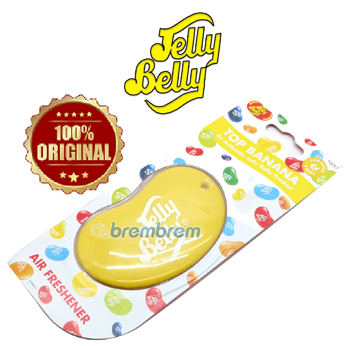 JELLY BELLY AROMA TOP BANANA - PENGHARUM MOBIL
