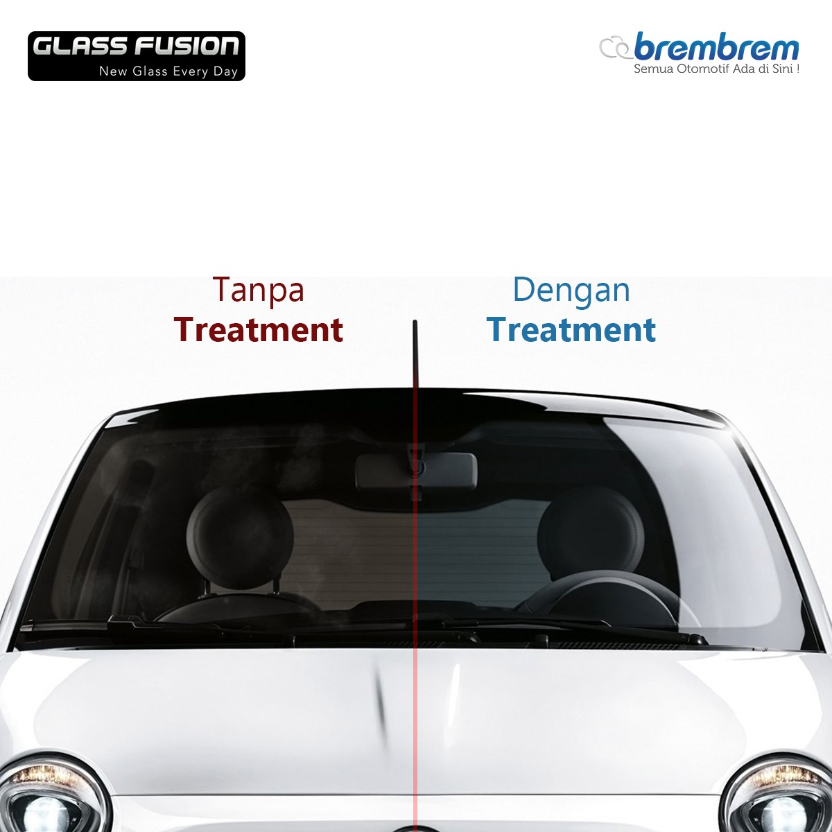 GLASS FUSION - PERAWATAN KACA MOBIL (REGULER + MAINTANCE | NAVIGATOR COMBO)