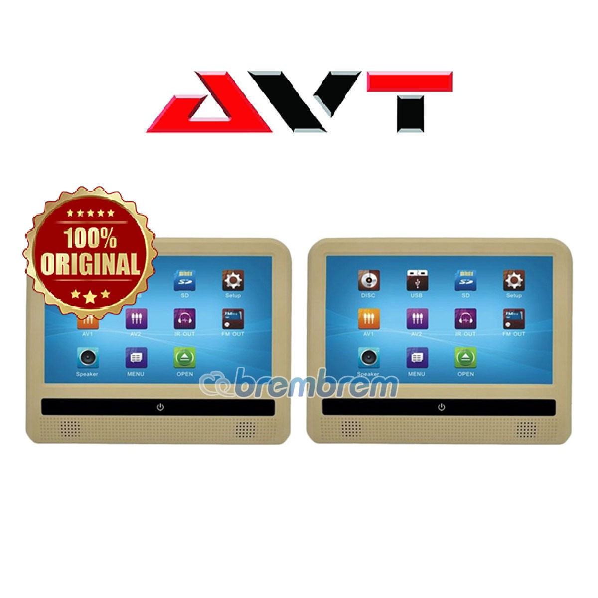 AVT HM 900DM WARNA BEIGE - HEADREST CLIPON