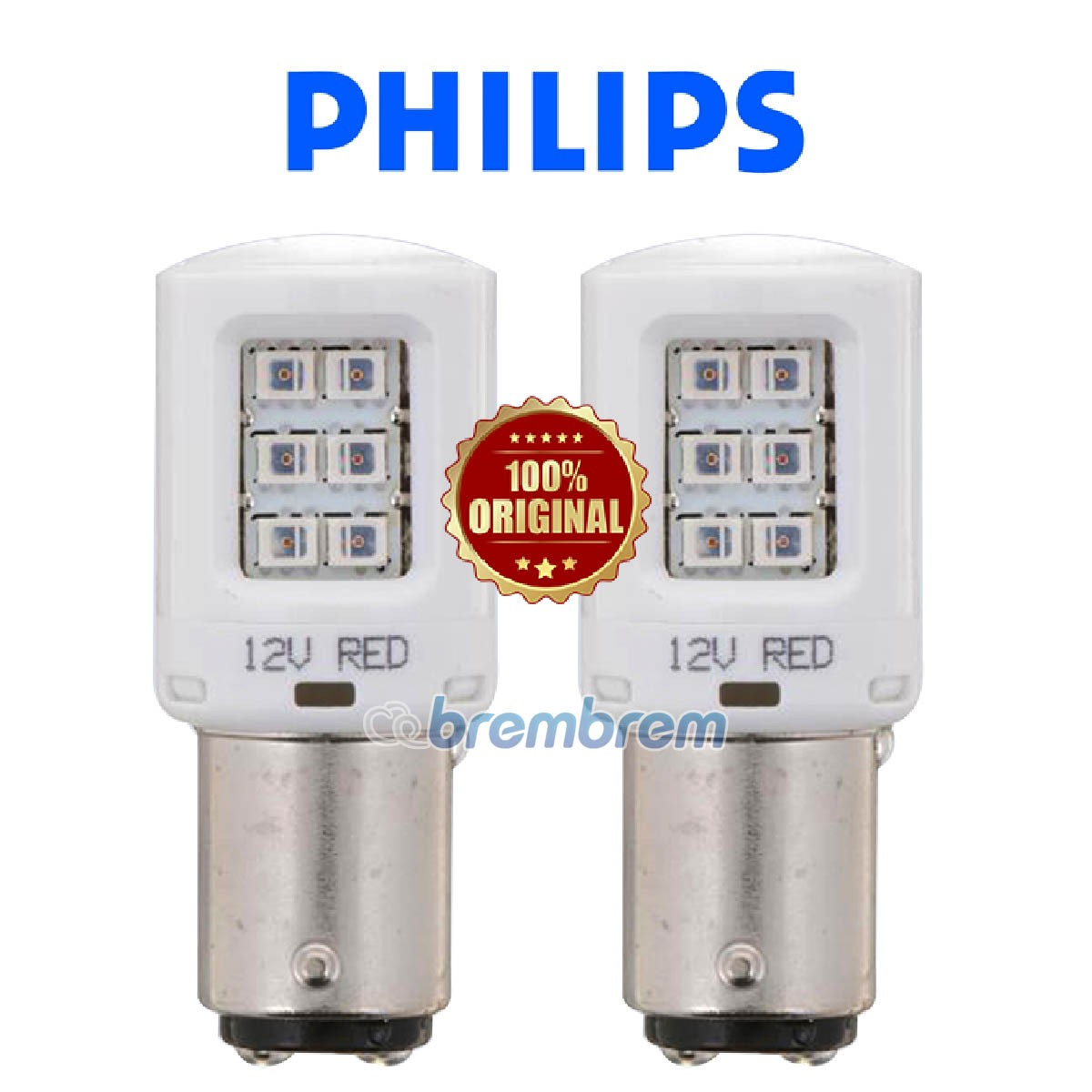 PHILIPS ULTINON S25 P21/5W RED - LAMPU LED