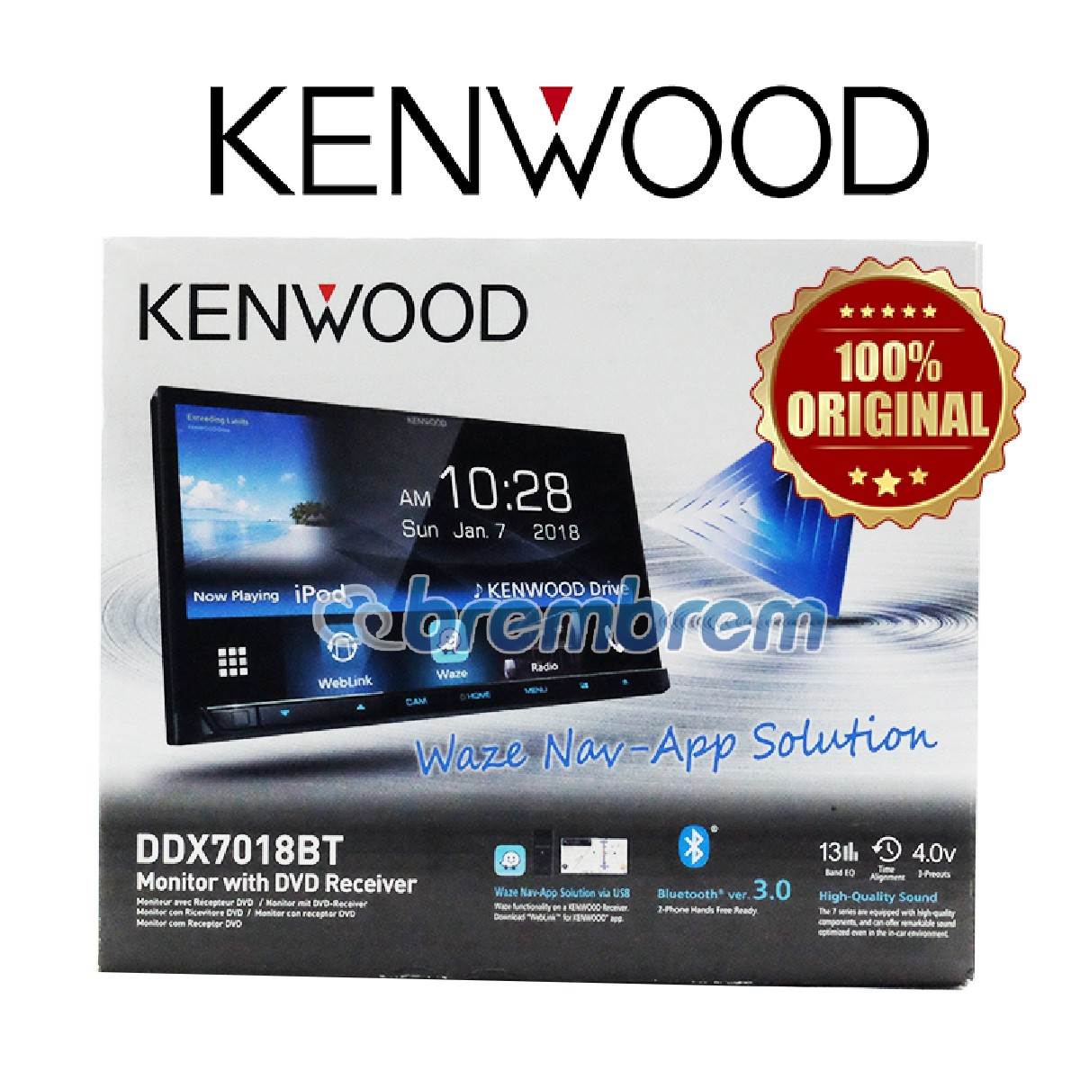 KENWOOD DDX7017BT - HEAD UNIT DOUBLE DIN