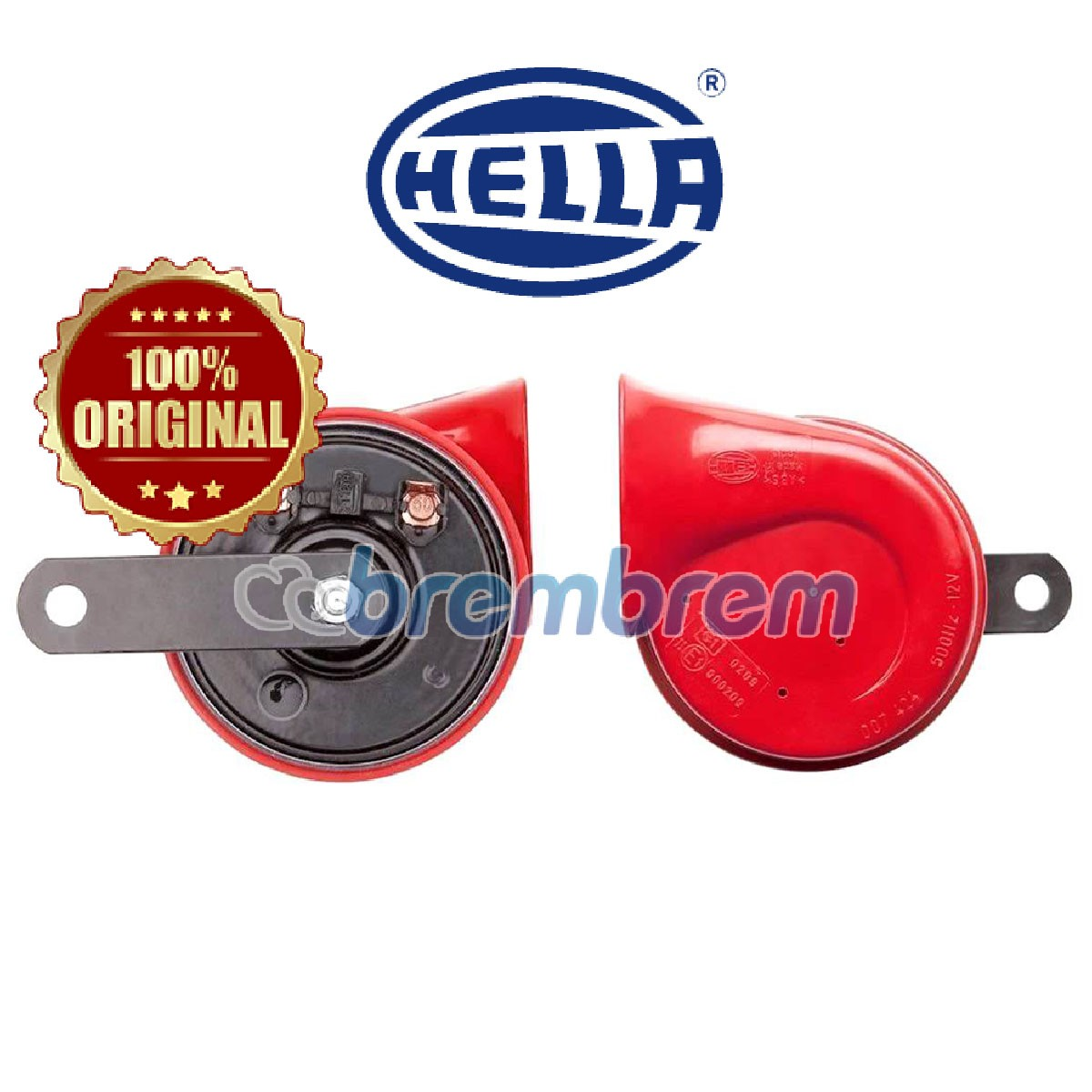 HELLA RED TWIN TONE - KLAKSON MOBIL