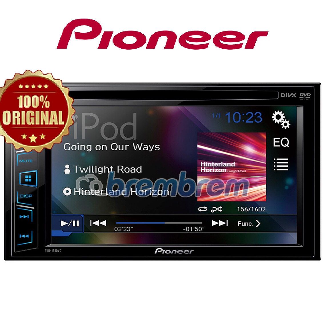PIONEER AVH 195DVD - HEADUNIT DOUBLE DIN