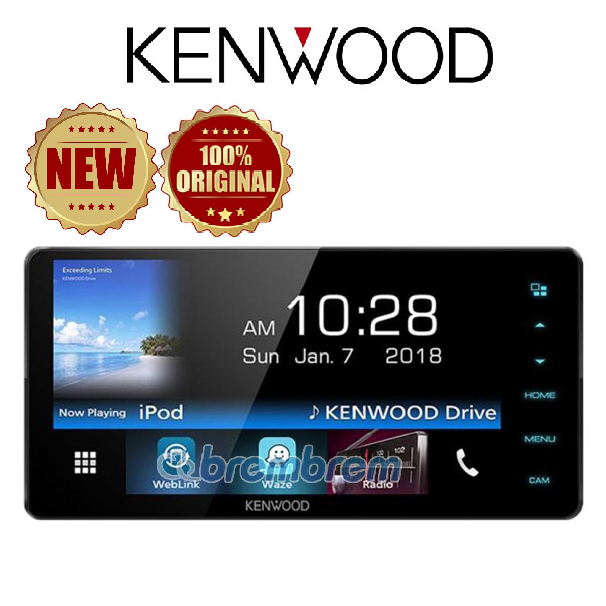 KENWOOD DDX718WBT - HEAD UNIT DOUBLE DIN