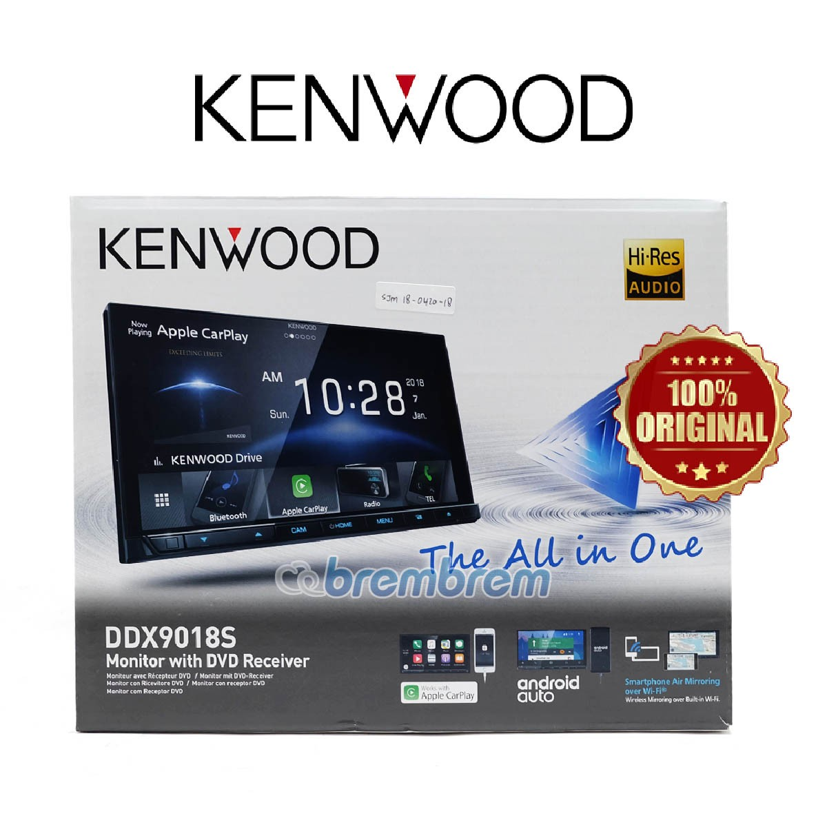 KENWOOD DDX9018S - HEAD UNIT DOUBLE DIN