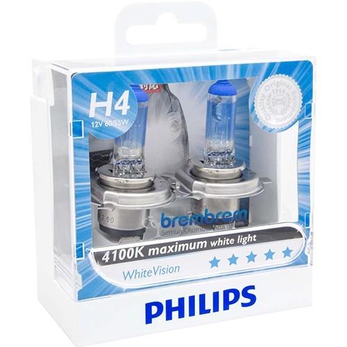 PHILIPS WHITE VISION H4 (4100K) - LAMPU HALOGEN MITSUBISHI XPANDER