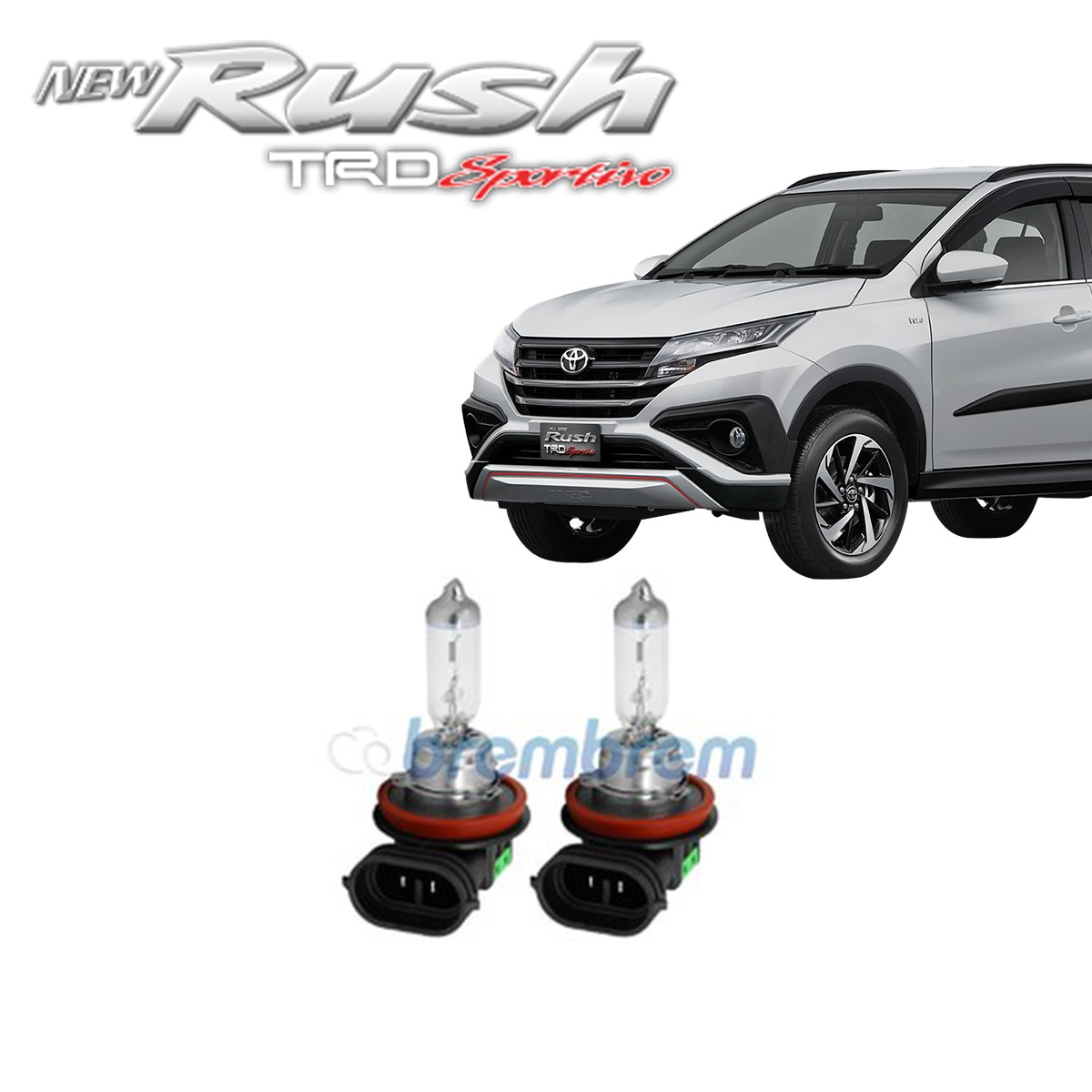 PHILIPS XTREME VISION H11 (3700K) - LAMPU HALOGEN TOYOTA ALL NEW RUSH