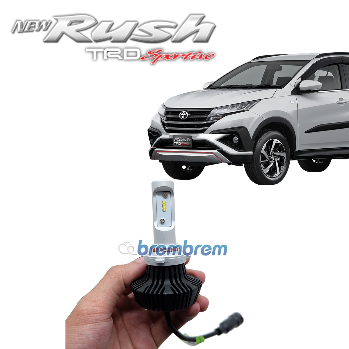 HIRO i-PRECISION HB3 (9005) - LAMPU LED MOBIL TOYOTA ALL NEW RUSH