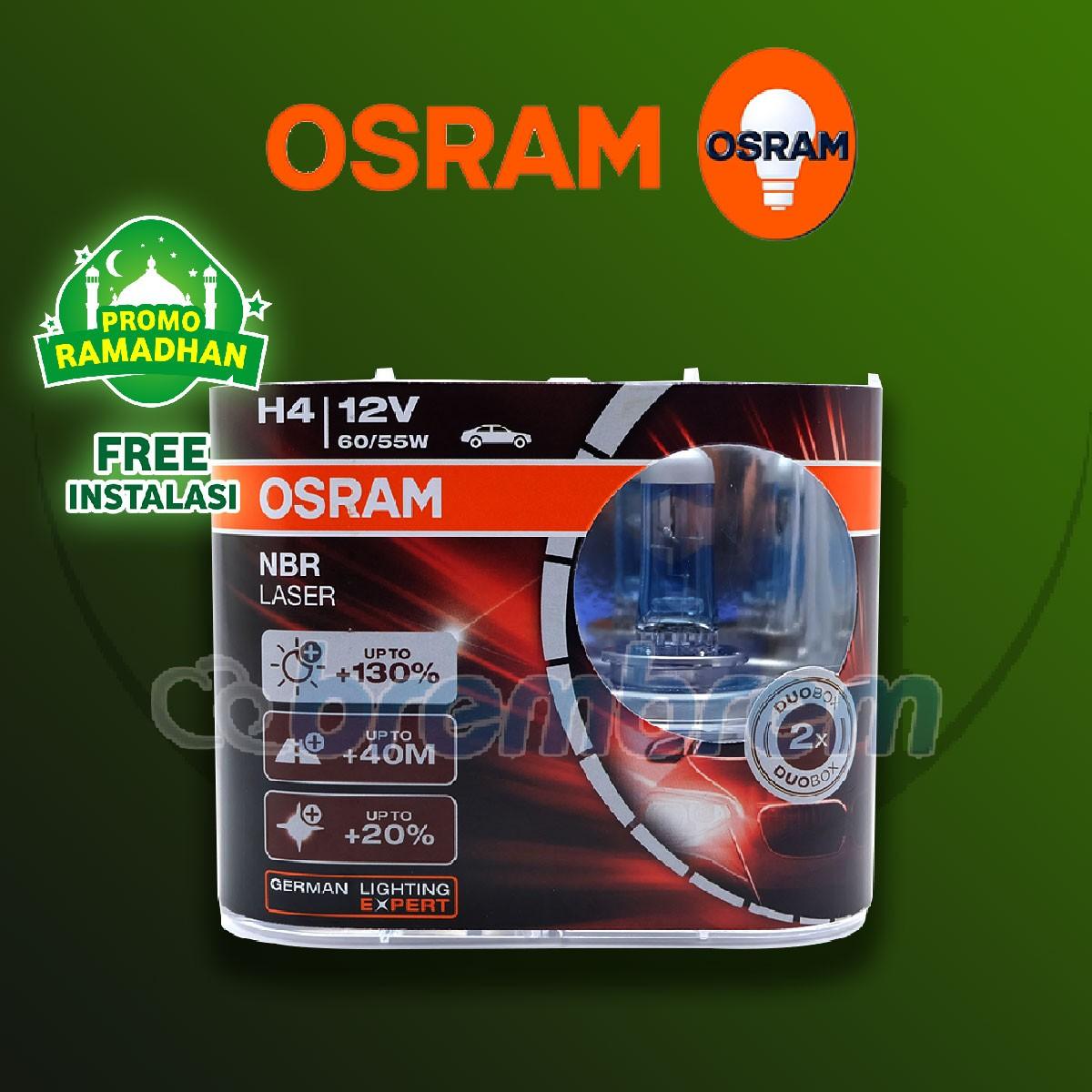 MUDIK BARENG | OSRAM NIGHT BREAKER LASER H4 - LAMPU HALOGEN