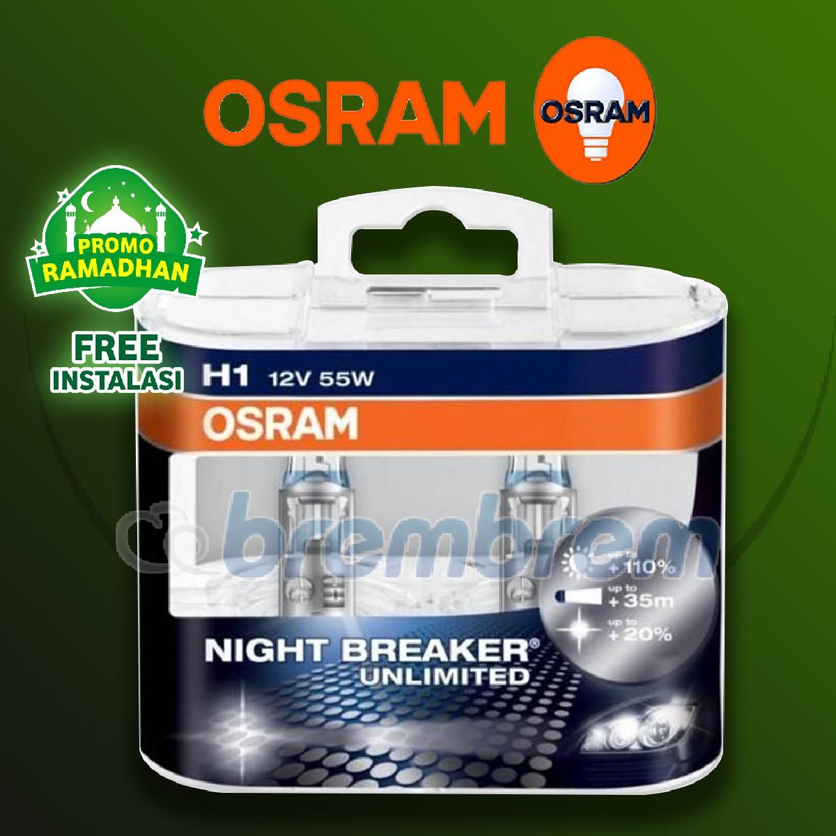 MUDIK BARENG | OSRAM NIGHT BREAKER UNLIMITED H1 - LAMPU HALOGEN
