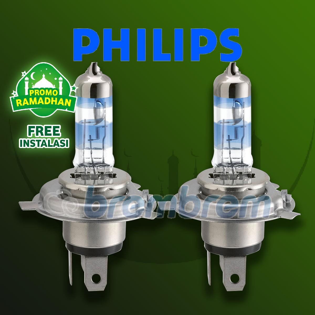 MUDIK BARENG | PHILIPS XTREME VISION PLUS H4 (3700K) - LAMPU HALOGEN