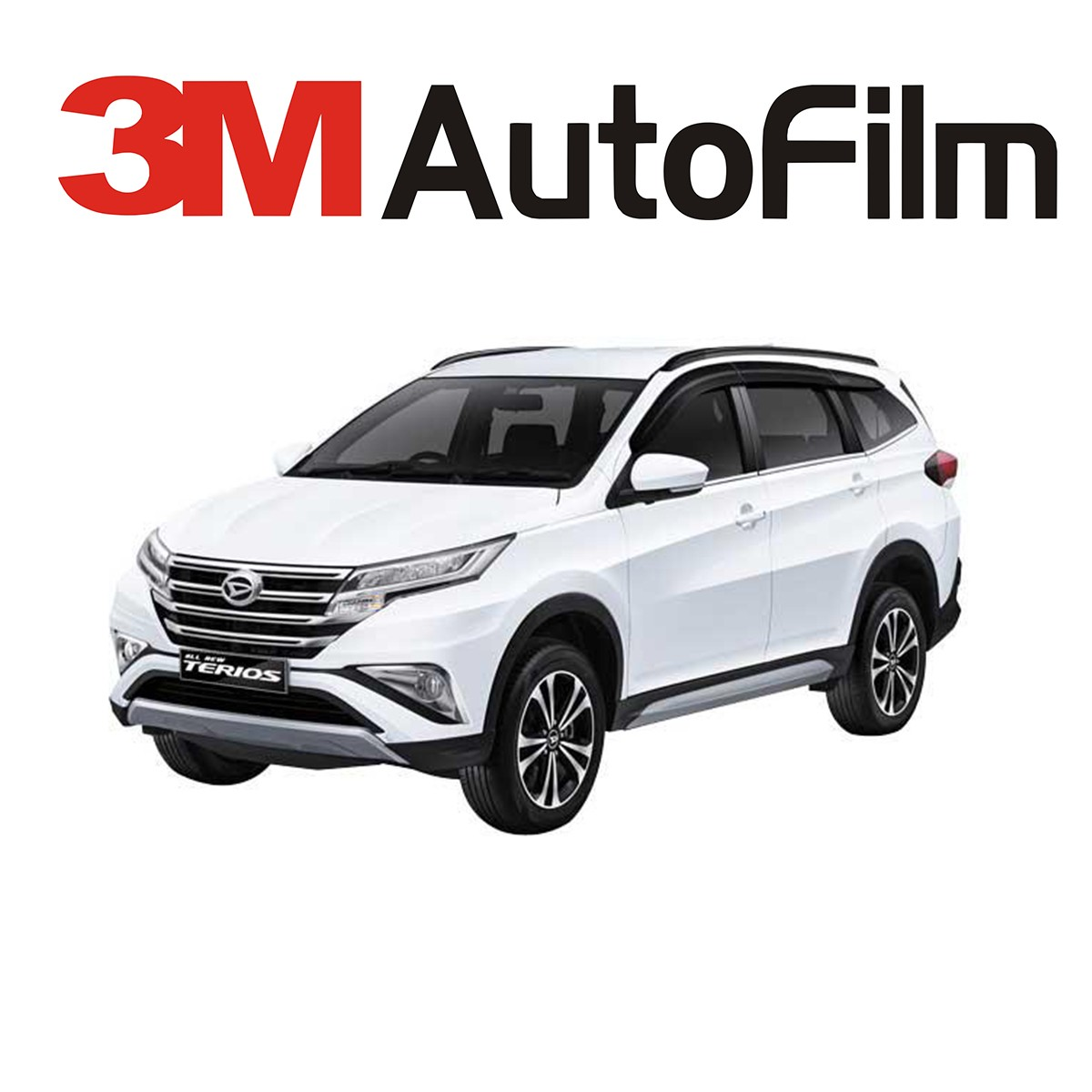 KACA FILM 3M BLACK BEAUTY - (DAIHATSU ALL NEW TERIOS) KACA SAMPING BELAKANG