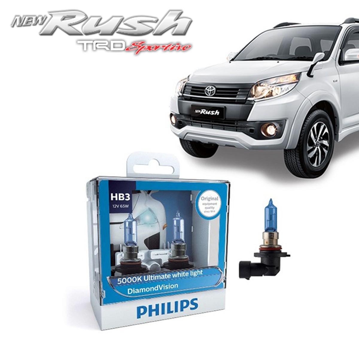 PHILIPS DIAMOND VISION HB3 (5000K) - LAMPU HALOGEN TOYOTA RUSH