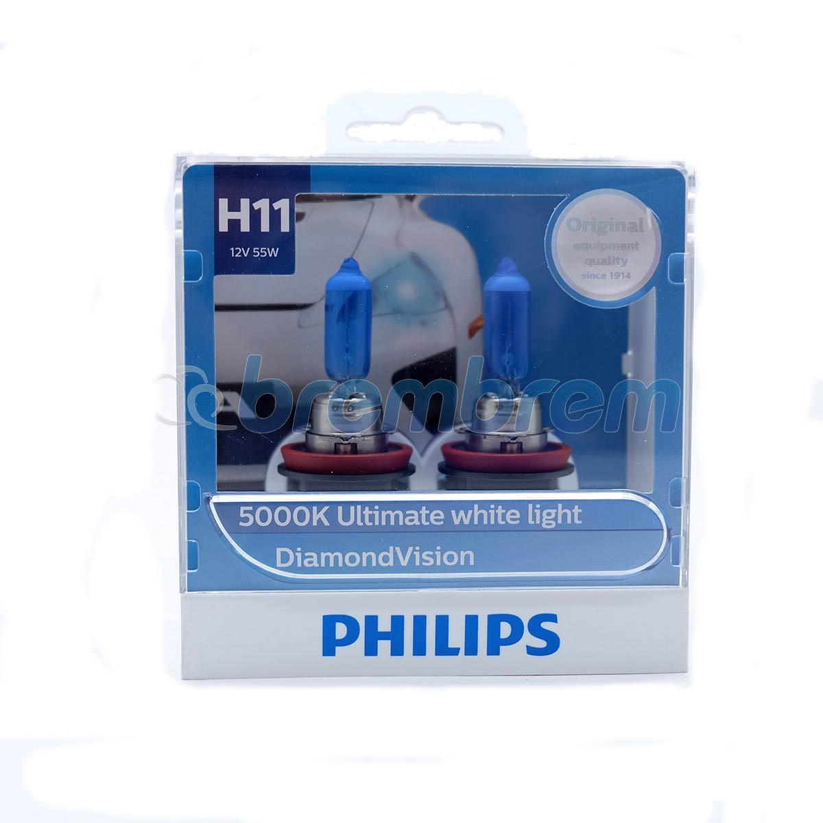 PHILIPS DIAMOND VISION H11 (5000K) - LAMPU HALOGEN