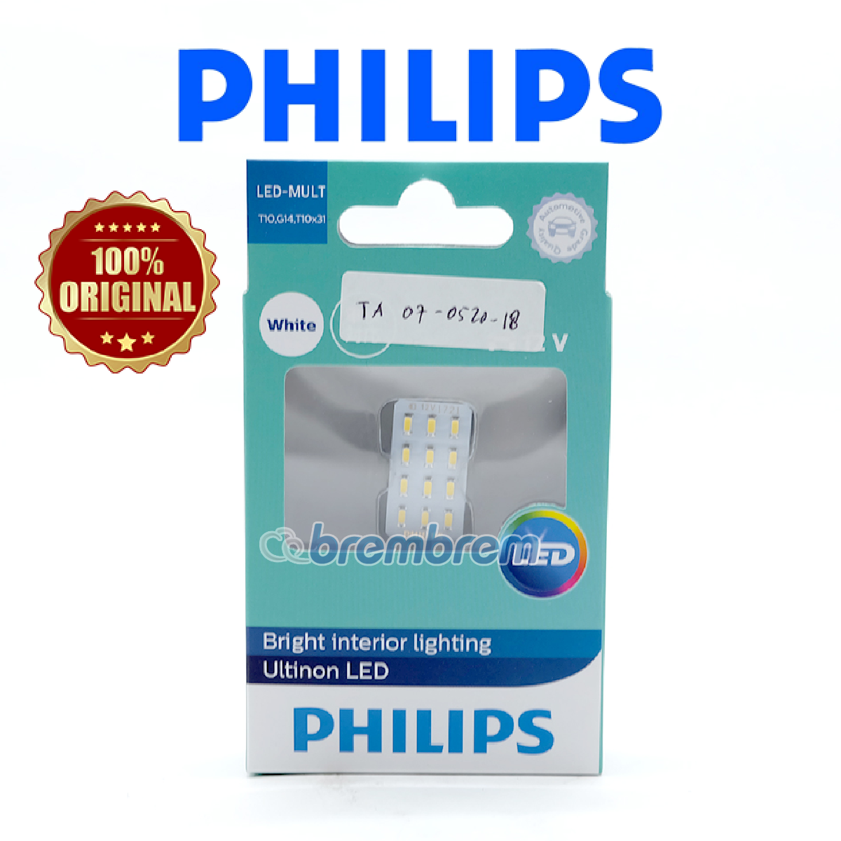 PHILIPS ULTINON WHITE LIGHT (6000K) - LAMPU KABIN LED