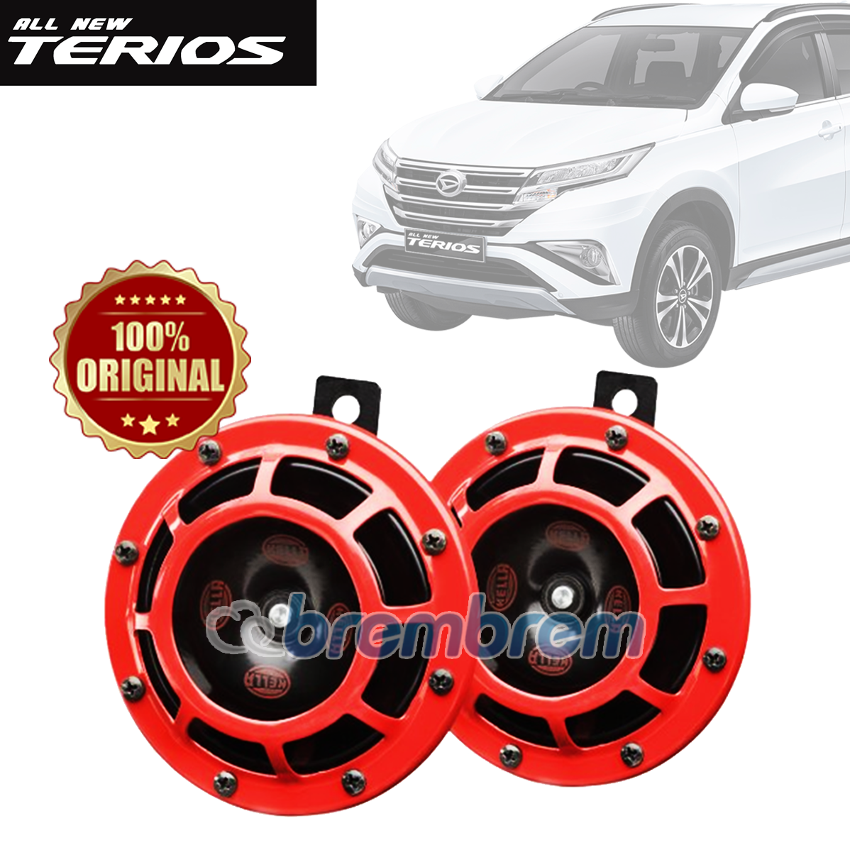 HELLA RED SUPER TONE - KLAKSON MOBIL DAIHATSU ALL NEW TERIOS