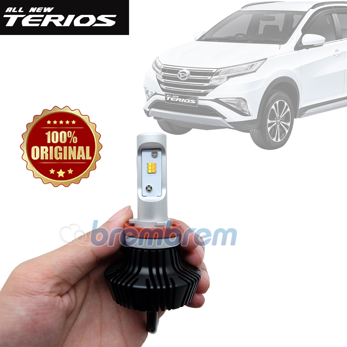 HIRO i-PRECISION H11 DUAL COLOR - LAMPU LED MOBIL DAIHATSU ALL NEW TERIOS