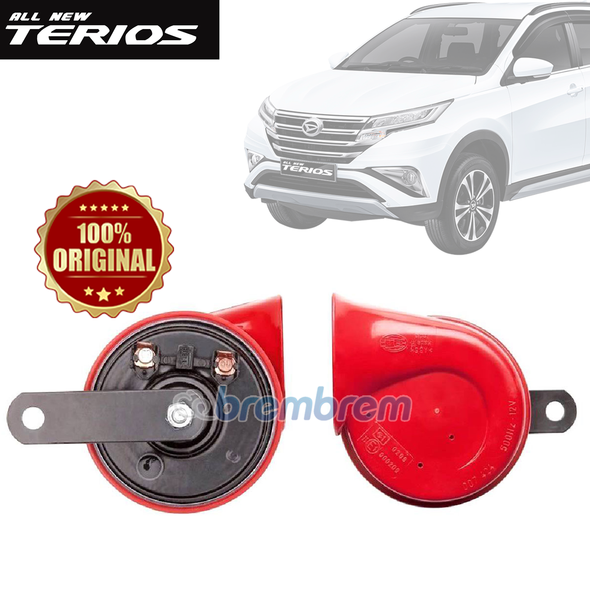 HELLA RED TWIN TONE - KLAKSON MOBIL DAIHATSU ALL NEW TERIOS
