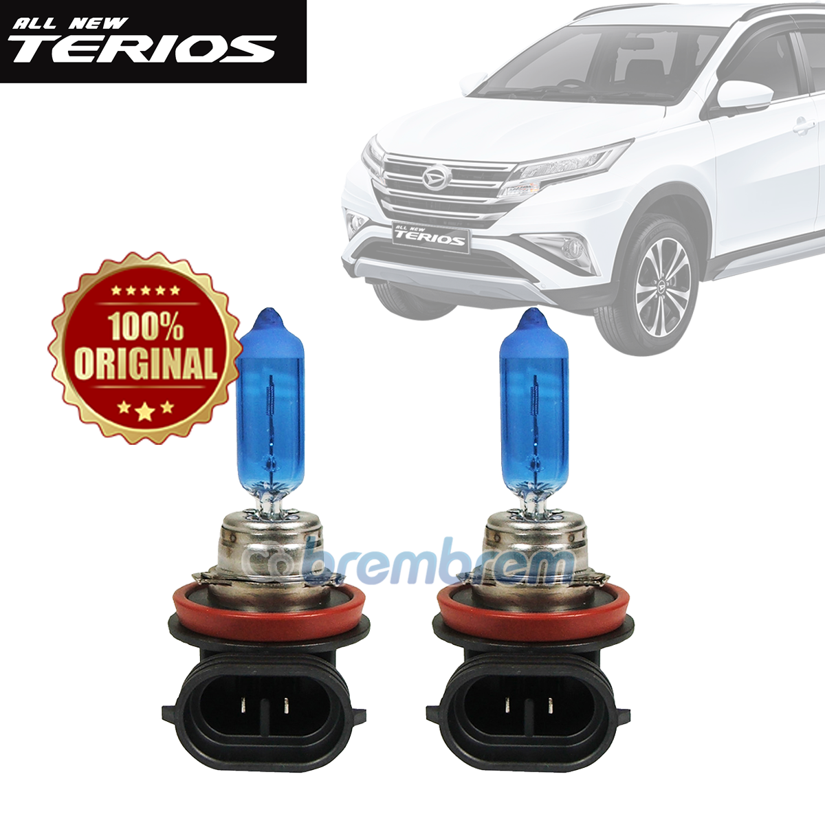 PHILIPS DIAMOND VISION H11 (5000K) - LAMPU HALOGEN DAIHATSU ALL NEW TERIOS