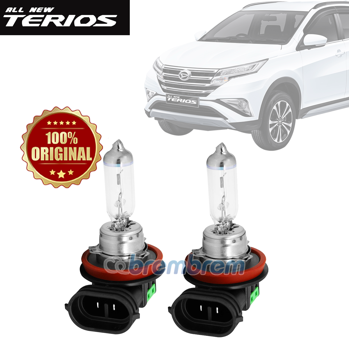 PHILIPS XTREME VISION H11 (3700K) - LAMPU HALOGEN DAIHATSU ALL NEW TERIOS