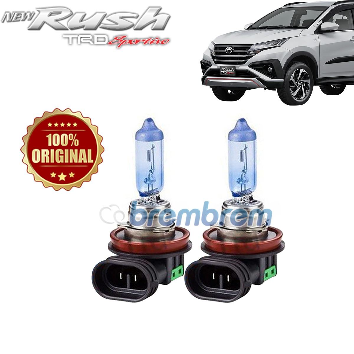 PHILIPS BLUE VISION H11 (4000K) - LAMPU HALOGEN TOYOTA ALL NEW RUSH
