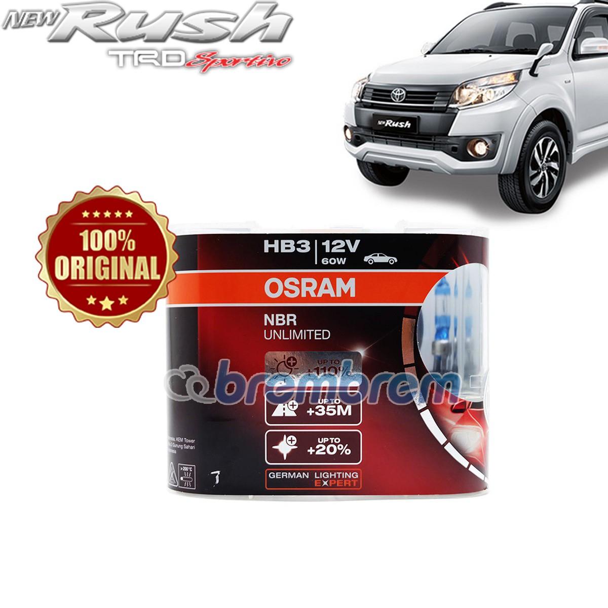 OSRAM NIGHT BREAKER UNLIMITED HB3 - LAMPU HALOGEN TOYOTA RUSH