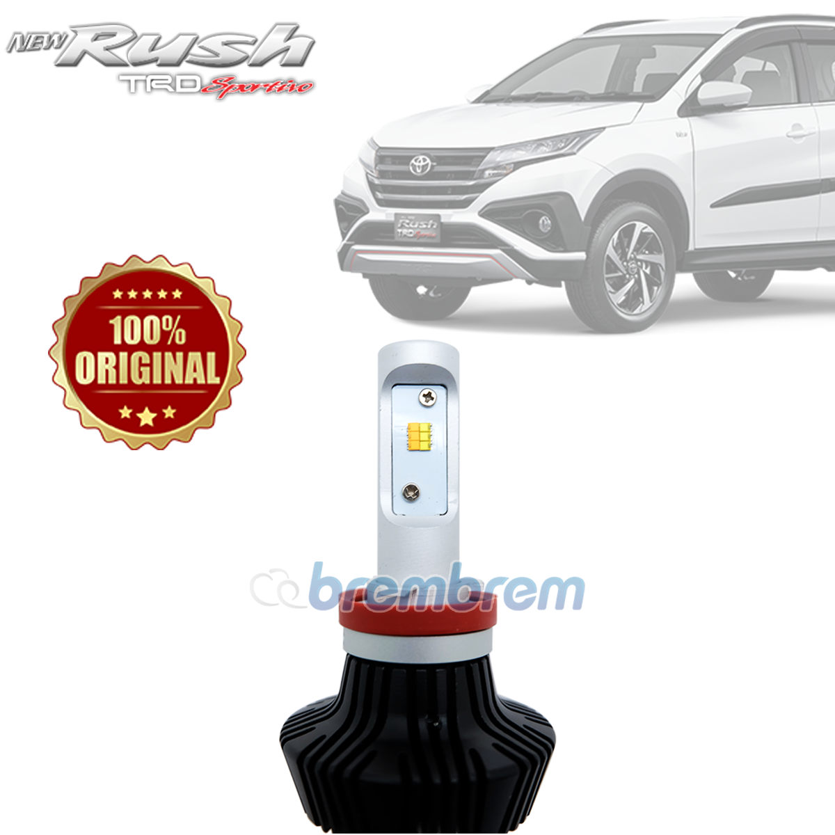 HIRO i-PRECISION H11 DUAL COLOR - LAMPU LED MOBIL TOYOTA ALL NEW RUSH