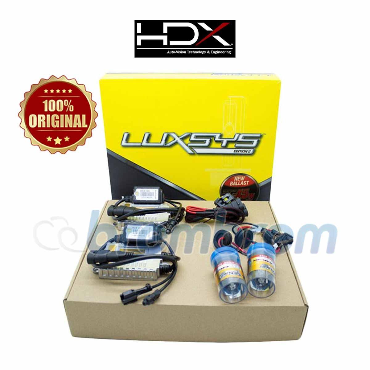 HDX LUXSYS H4 Hi LOW 6000K - LAMPU HID MOBIL