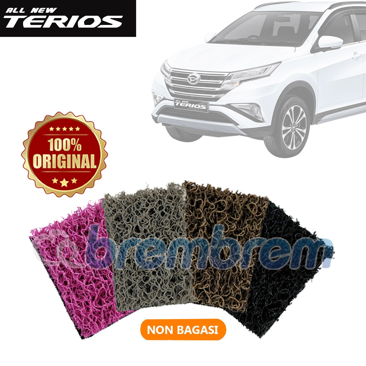 KARPET COMFORT DELUXE NON BAGASI DAIHATSU ALL NEW TERIOS 2018