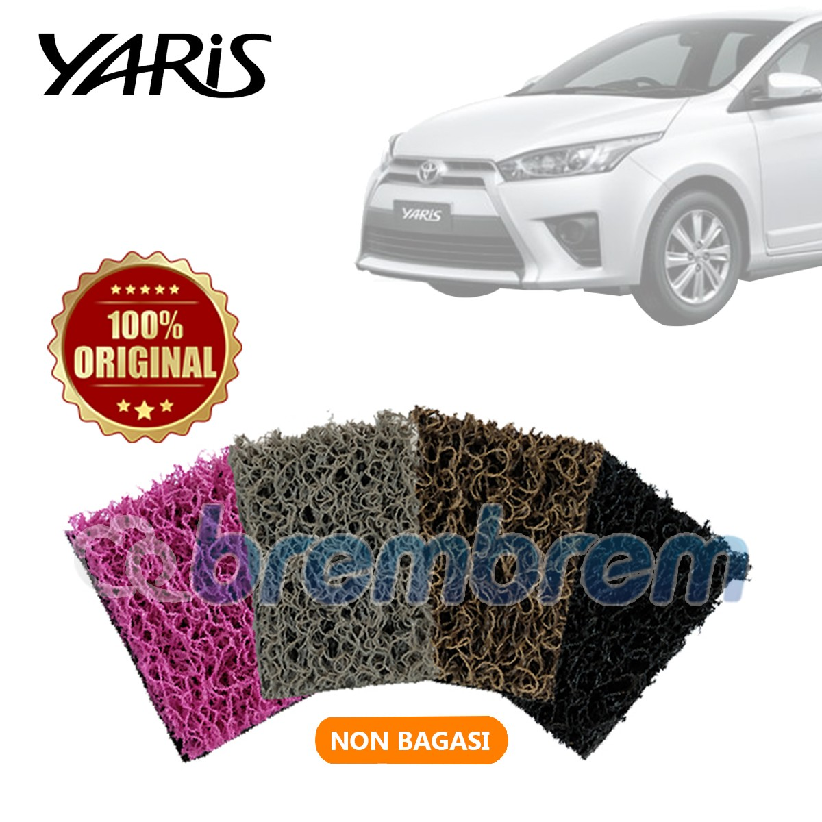 KARPET COMFORT DELUXE NON BAGASI TOYOTA ALL NEW YARIS
