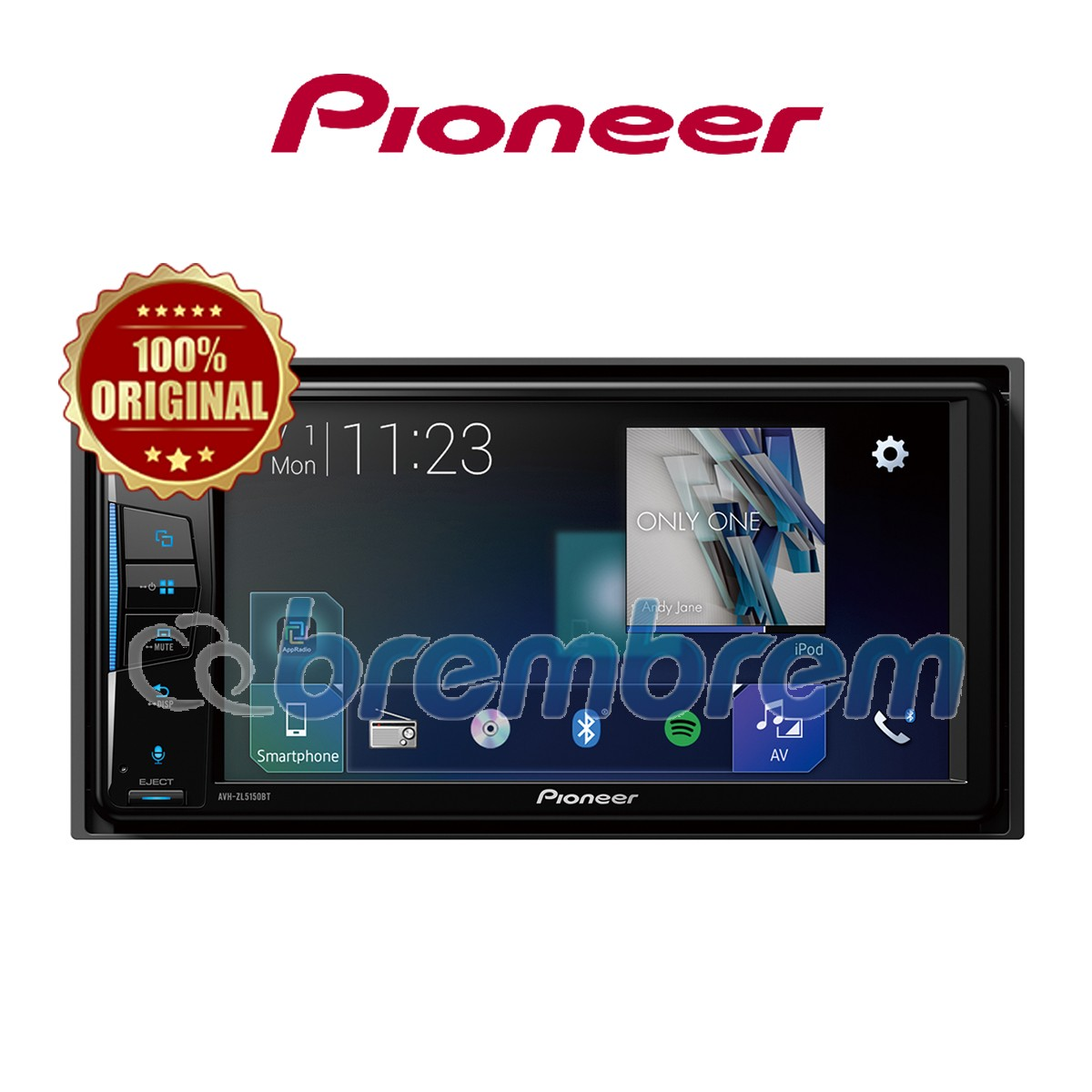 PIONEER AVH-ZL5150BT - HEADUNIT DOUBLE DIN