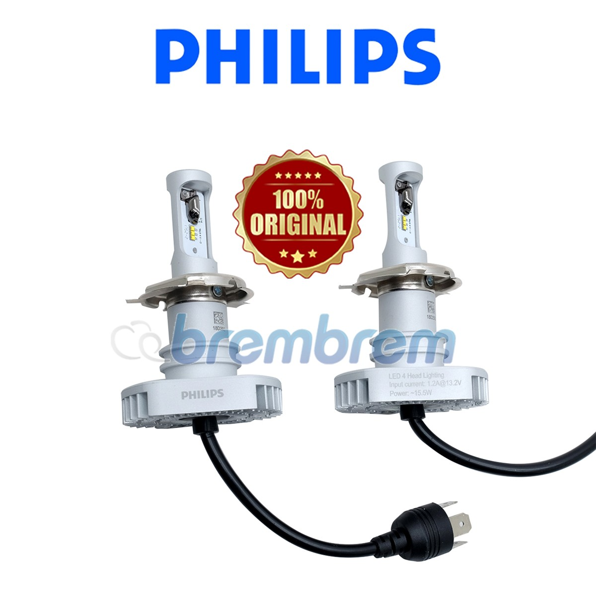 PHILIPS ULTINON H4 (6000K) - LAMPU LED