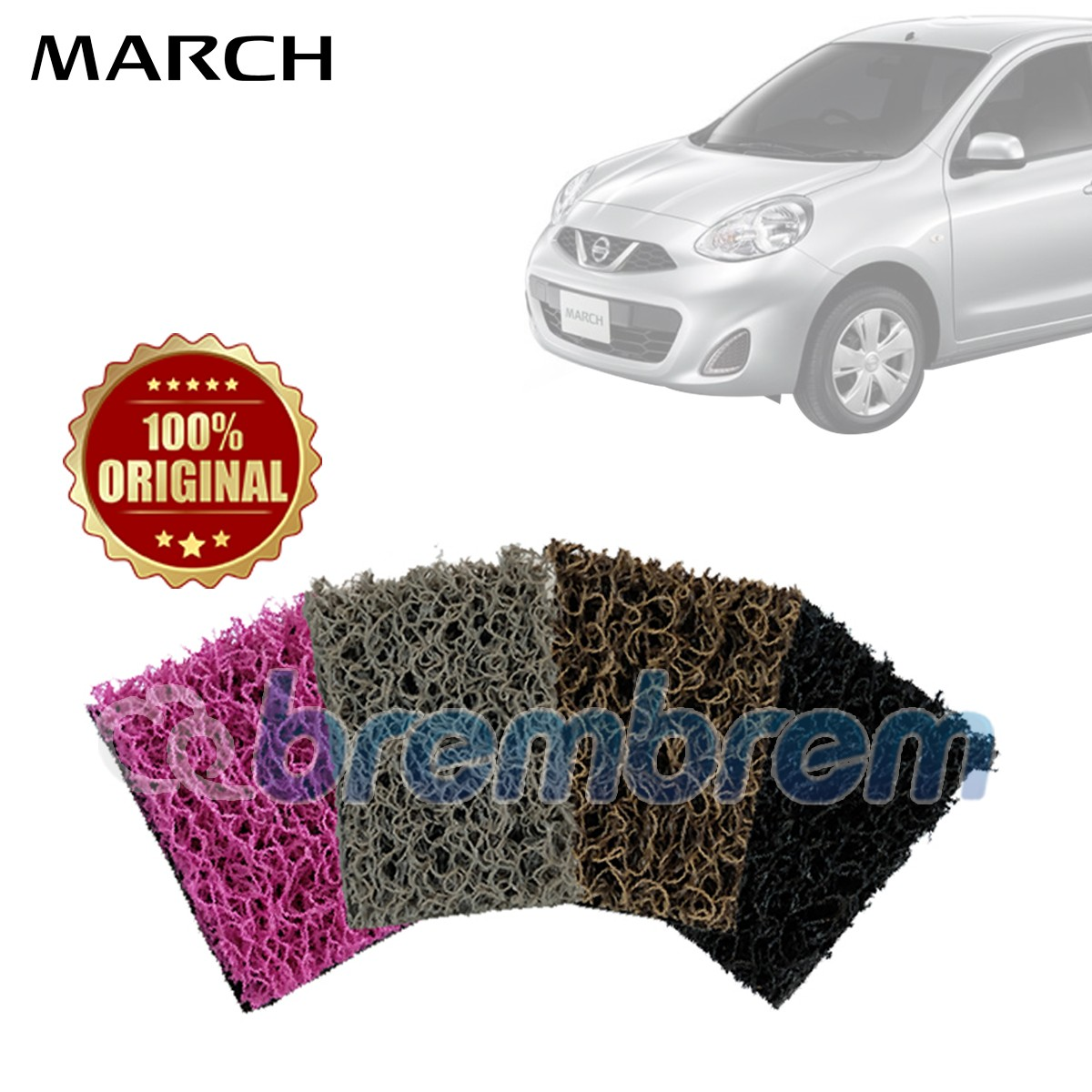 KARPET COMFORT DELUXE + BAGASI NISSAN ALL NEW MARCH